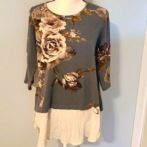 Honeyme floral tunic